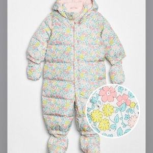 Baby Gap Cold Control floral snowsuit
